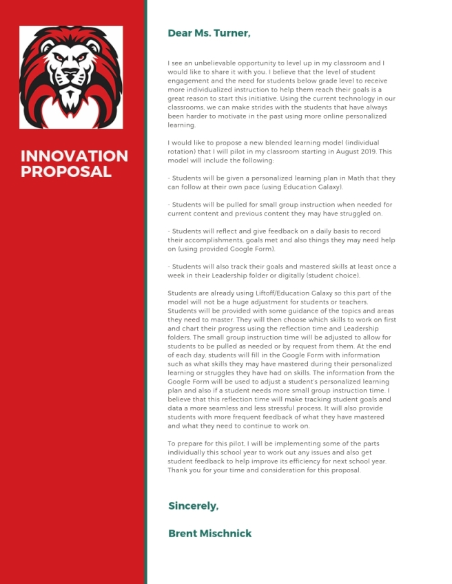 innovation proposal